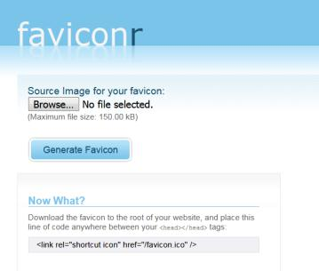 Faviconr.com favicon generator