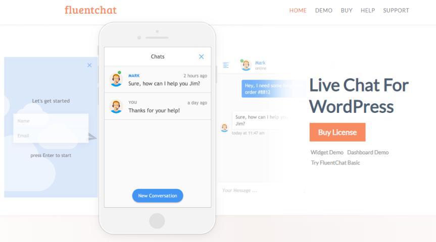 FluentChat – WordPress Live Chat plugin for live chat