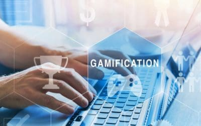 Concept of Gamification with icons