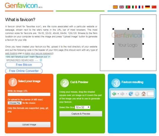 Genfavicon.com favicon generator