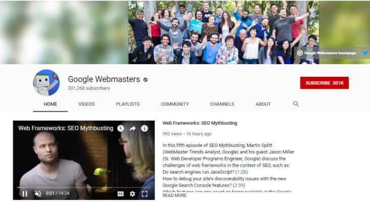 Google Webmasters for how to blo