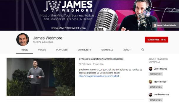 James Wedmore for how to blog