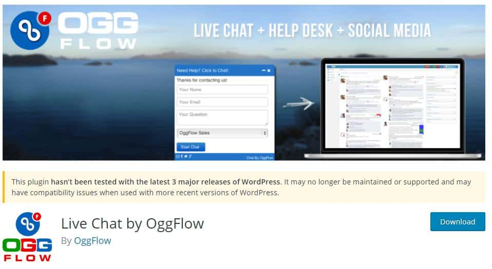 Live Chat by OggFlow Plugin for live chat