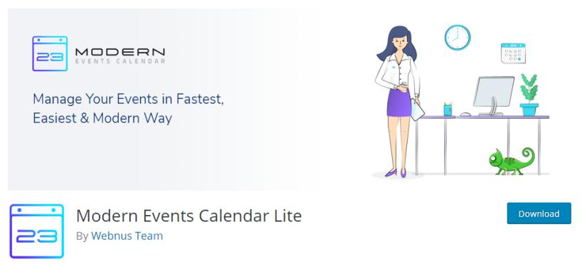 Modern Events Calendar Plugin for event display