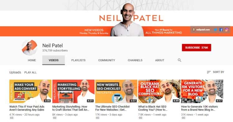 Neil Patel for how to blog