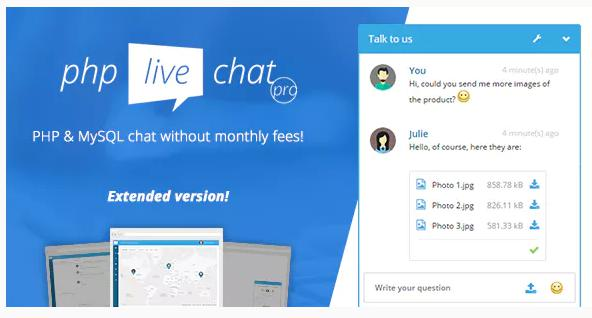 PHP Live Chat Pro Plugin for live chat