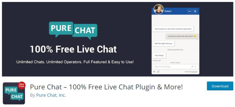 Pure Chat Plugin for live chat