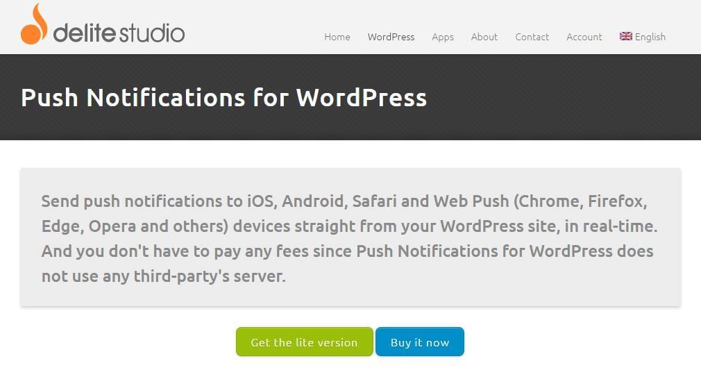 Push Notification by Delite Studio plugin