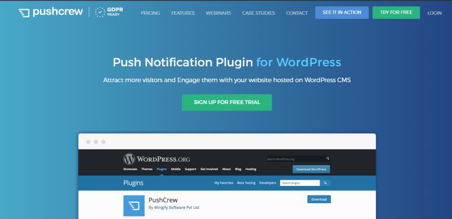 PushCrew plugin for push notifications