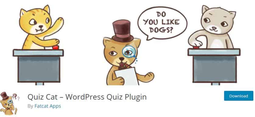 Quiz Cat for WordPress Quizze