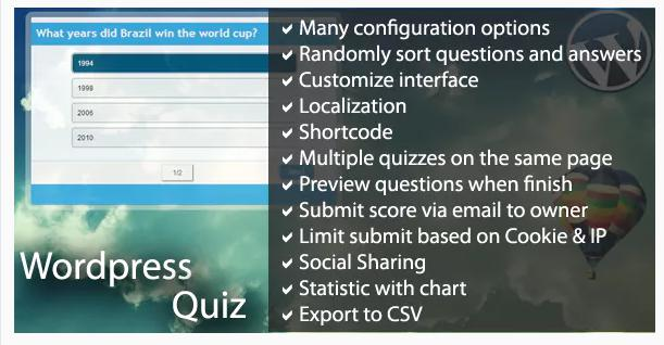 WordPress Quiz for WordPress surveys
