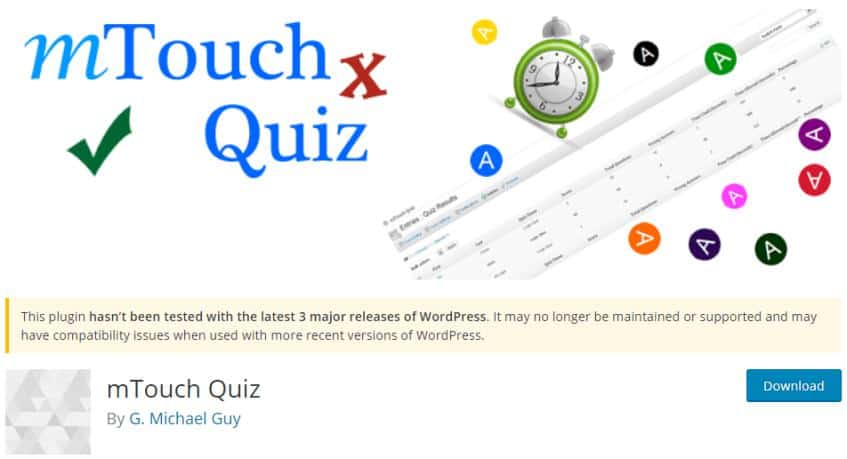 mTouch Quiz for WordPress Quizzes