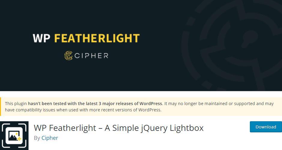 WP Featherlight Plugin
