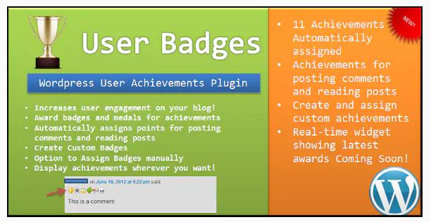 User Badges: WP User Achievements Plugin for gamification