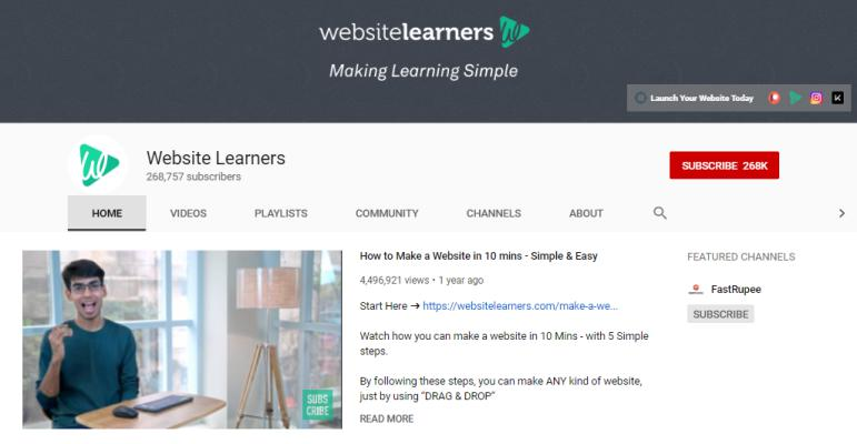 Website Learners for how to blog