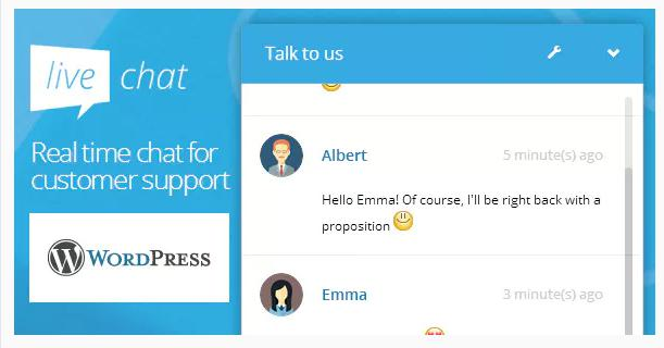 WordPress Live Chat Plugin for live chat