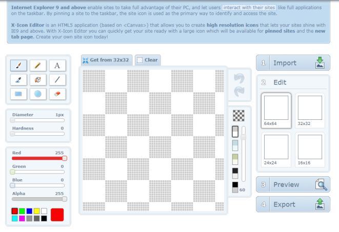 Xiconeditor.com favicon generator
