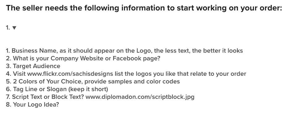 Logo creator questions on Fiverr