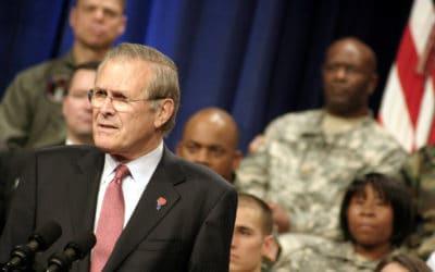 Donald Rumsfeld at Town Hall Meeting