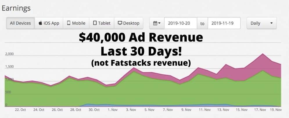 Ad revenue from niche website