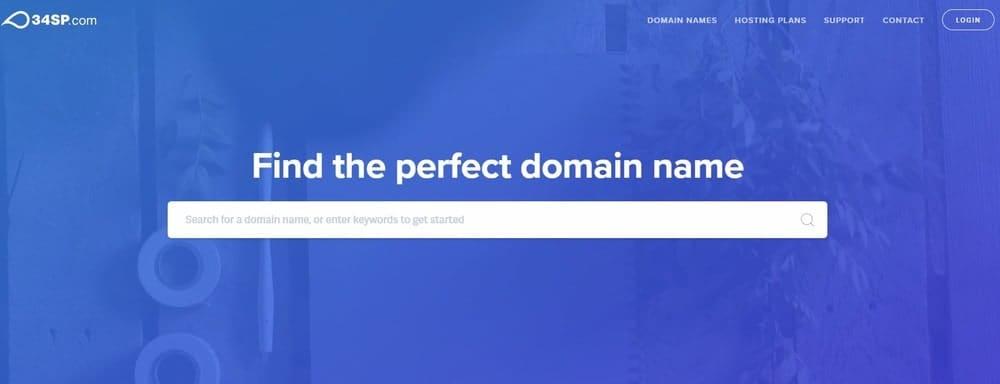 34SP.com website homepage