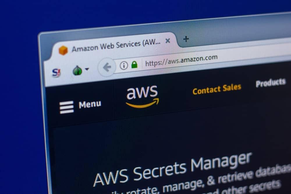 Amazon Web Services website homepage