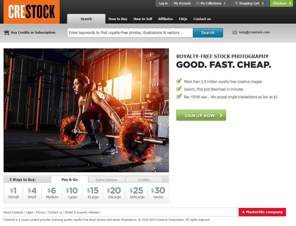 Crestock homepage screenshot.