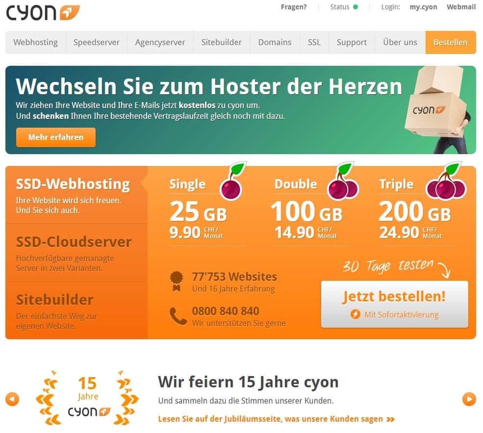 Cyon website homepage