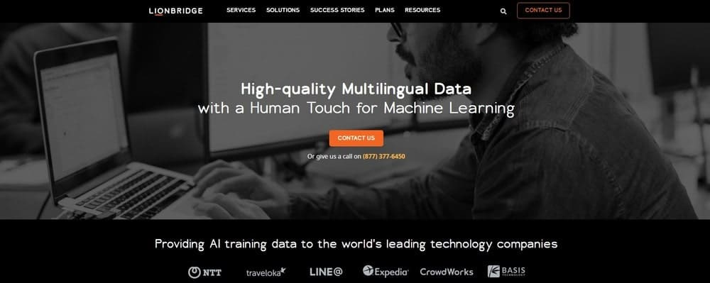 Gengo website homepage