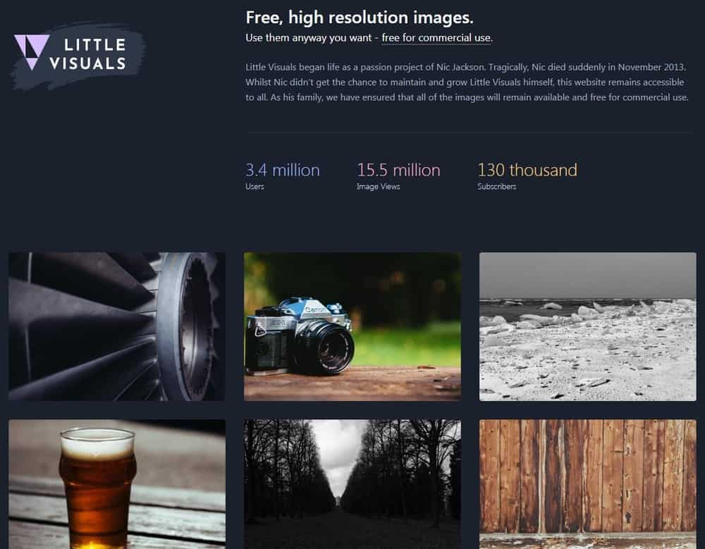 Little Visuals homepage