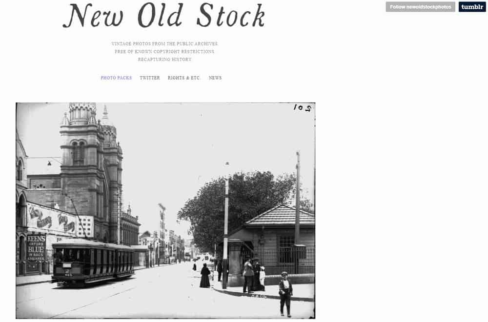 New Old Stock homepage