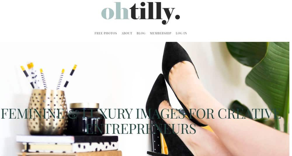 Oh Tilly Styled Stock homepage