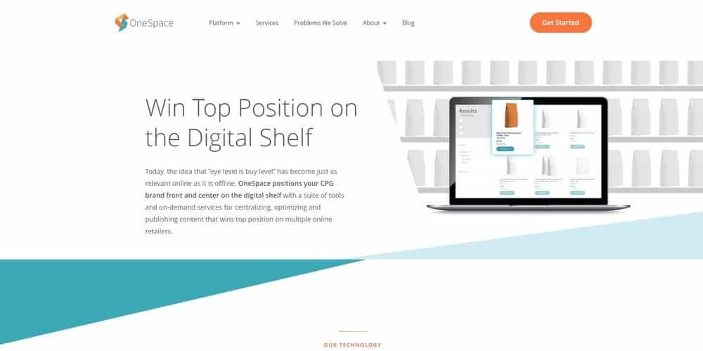 One Space website homepage