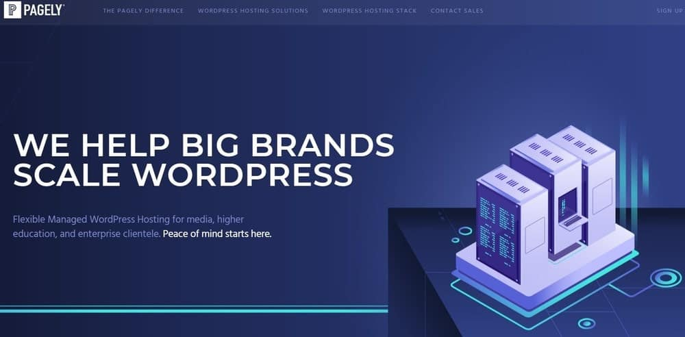 Pagely website homepage