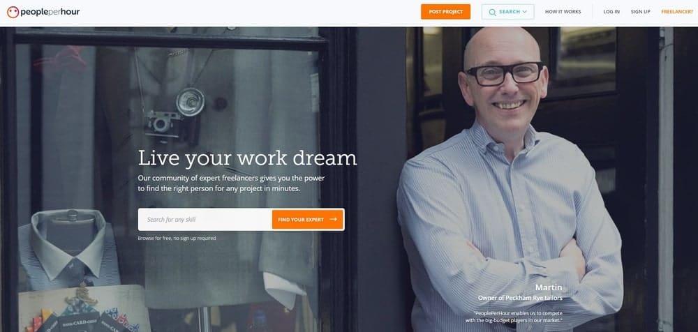 People Per Hour website homepage