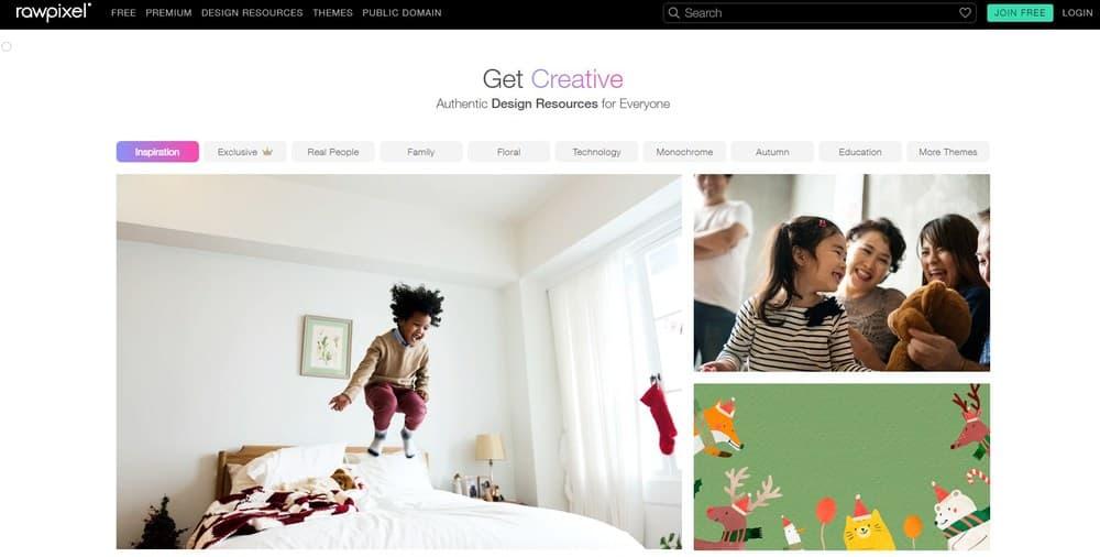 Rawpixel homepage