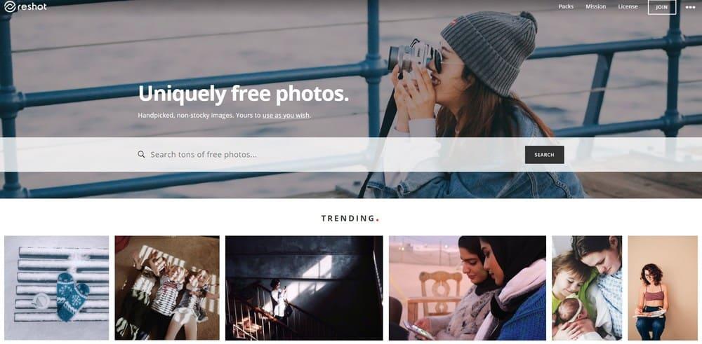 Reshot homepage