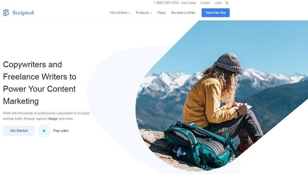 Scripted website homepage
