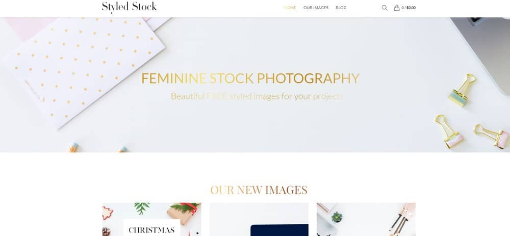 Styled Stock homepage