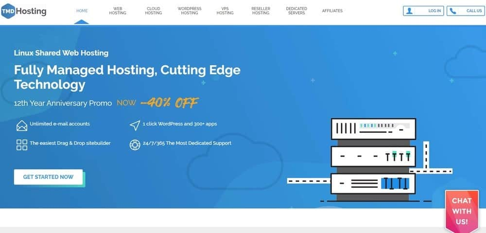 TMDHosting website homepage