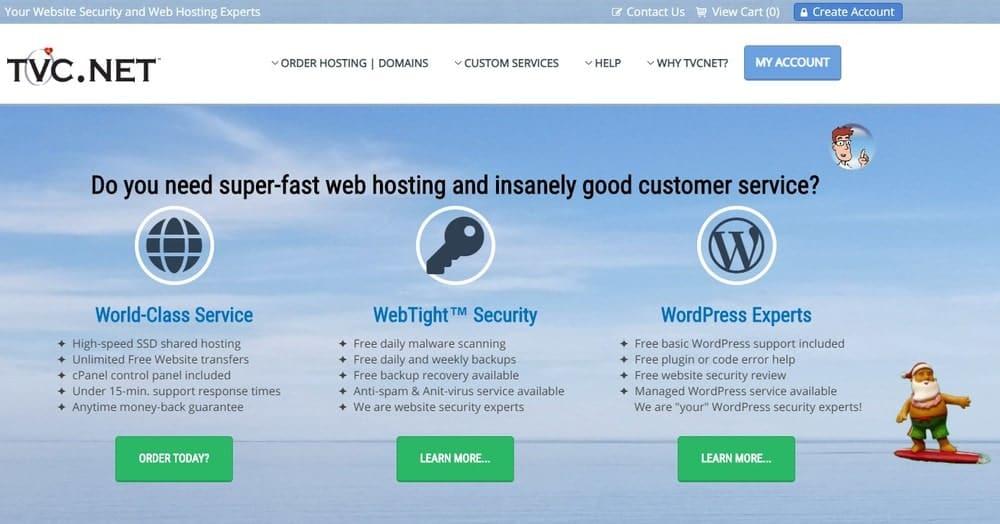 TVC.net website homepage