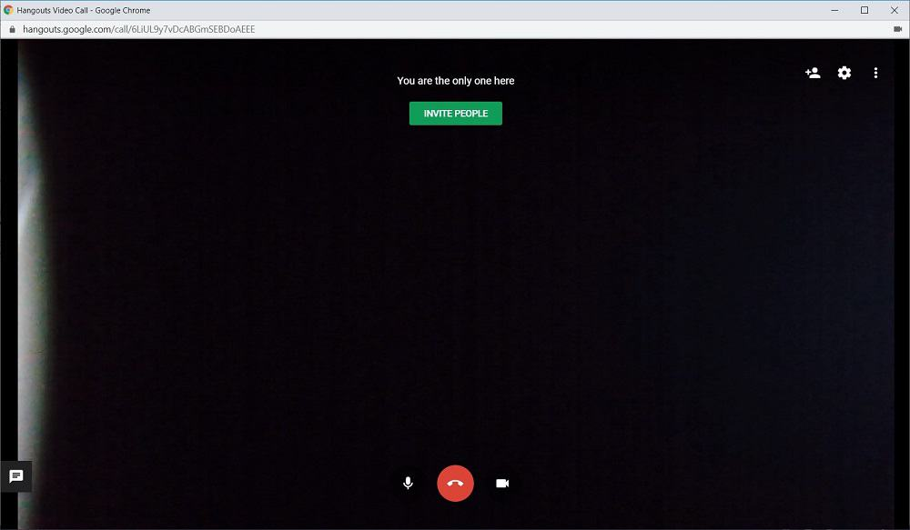 Screenshot of Google Hangouts invite people button