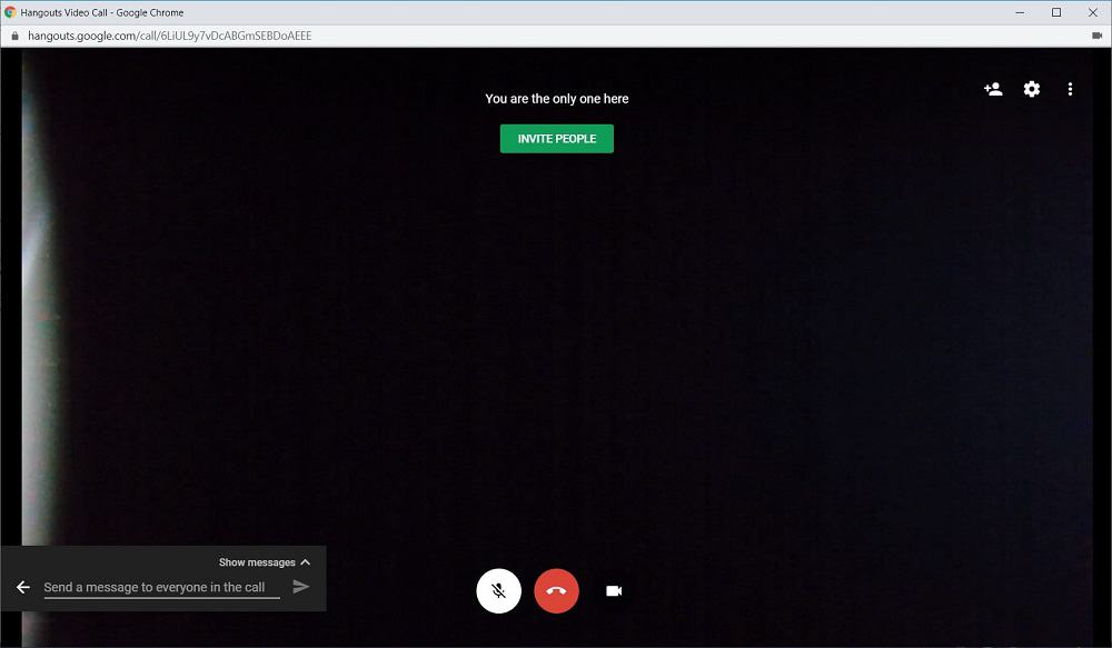 Screenshot of Google Hangouts app