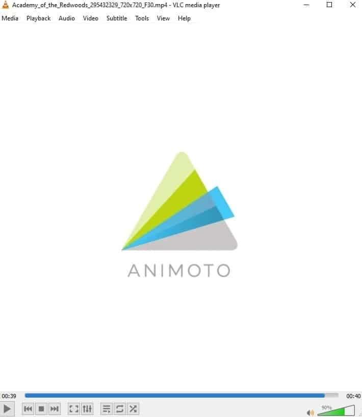 Screenshot of Animoto watermark.