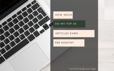 How much do my articles earn per month
