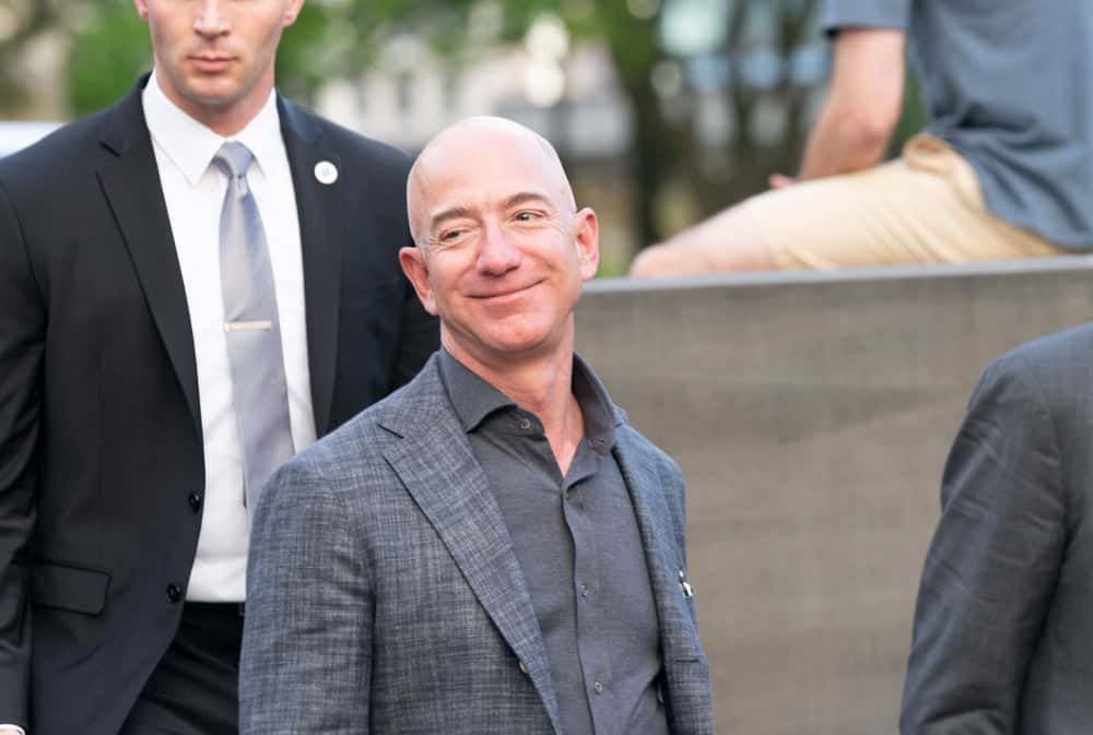 Jeff Bezos smiling