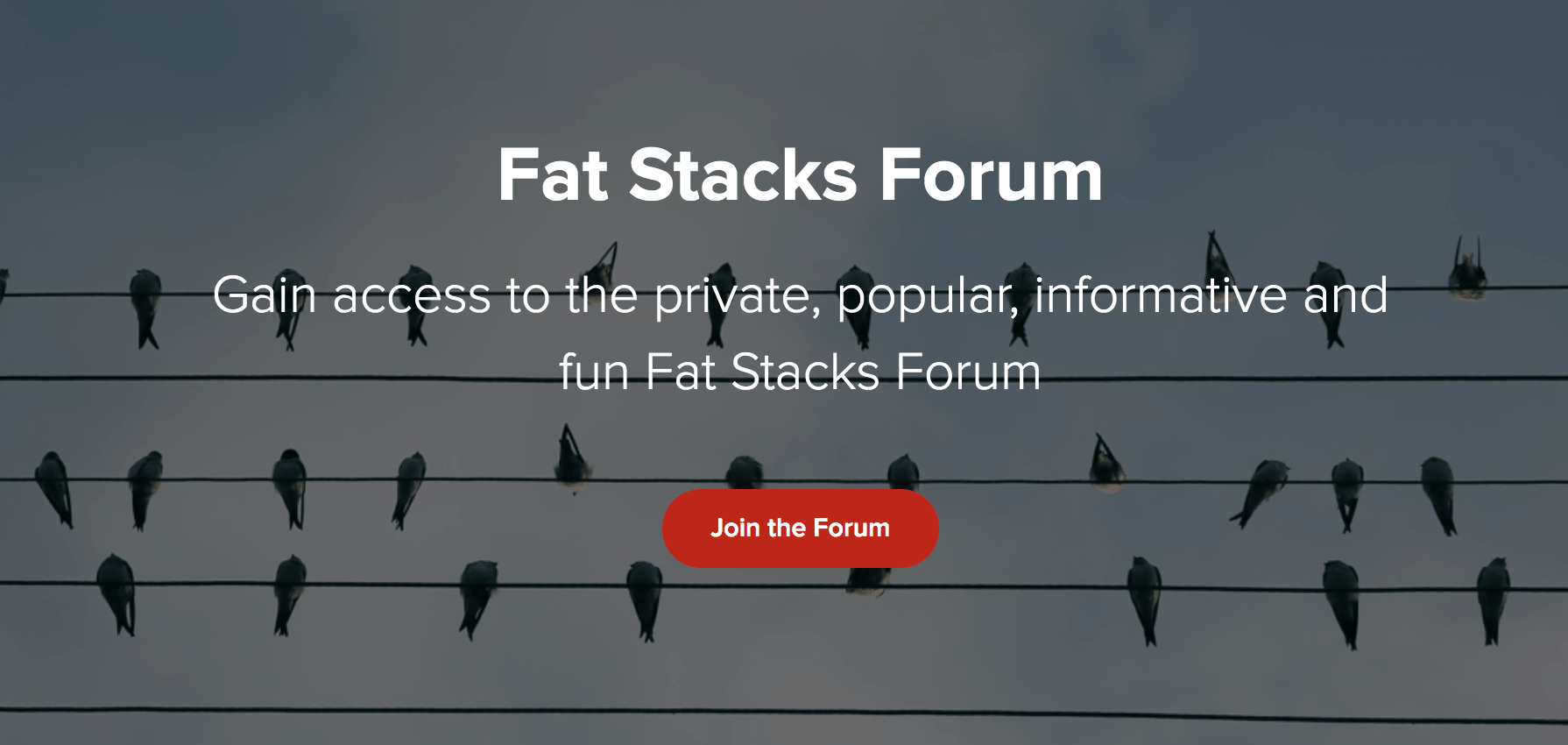 Fat Stacks forum screenshot