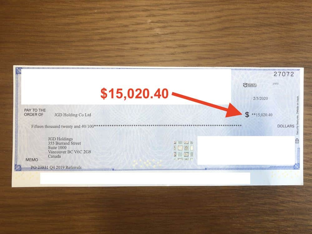 affiliate revenue check