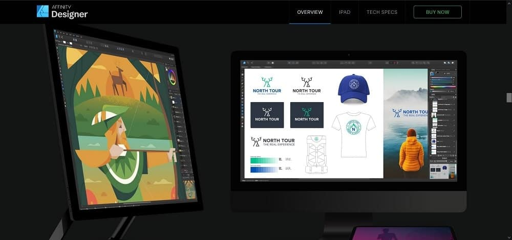 A screenshot of the Affinity Designer pin designer software tool.
