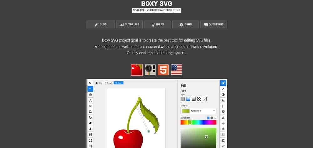 A screenshot of the Boxy SVG pin designer software tool.